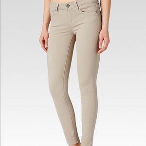 Paige Verdugo Khaki ankle skinny jeans
